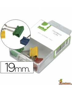 Pinza Metálica Reversible De Colores Q-Connect