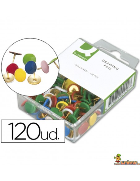 Chinchetas de colores Q Connect