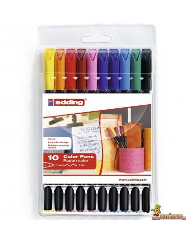 Edding 1200 Estuche de rotuladores 10 colores