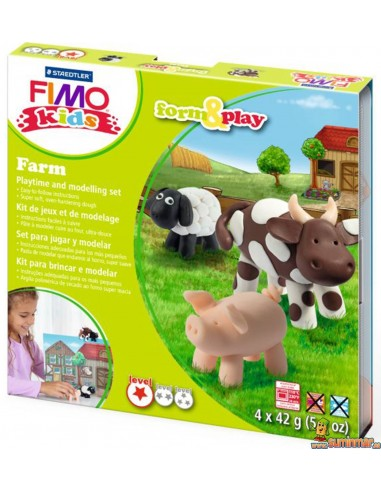 Set de manualidades FIMO form&play nivel 1 Farm