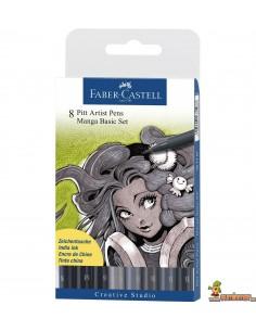 Rotuladores PITT Faber-Castell. Set Manga Básico