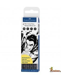 Rotuladores PITT Faber-Castell. Set Manga Black