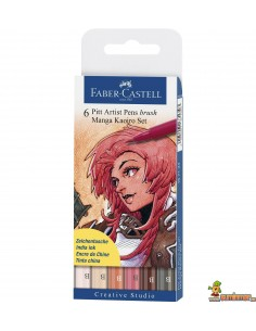 Rotuladores PITT Faber-Castell. Set Manga Kaoiro