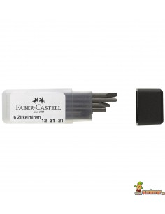 Minas para compás Faber Castell 6ud 2mm