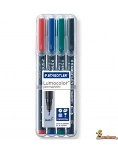 Pack Lumocolor Permanente F 0,6 mm 4 colores