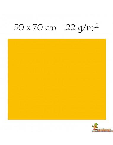 Pliego de papel celofán 50 x 70 cm Amarillo