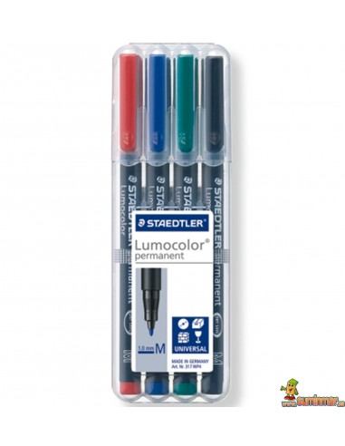 Pack Lumocolor Permanente M 1 mm 4 colores