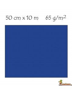 Rollo papel metalizado 50 cm x 10 m azul