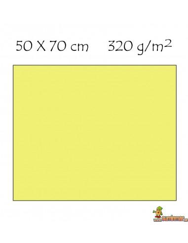 Cartón Ondulado 320 g/m² 50 x 70 cm. Liderpapel AMARILLO