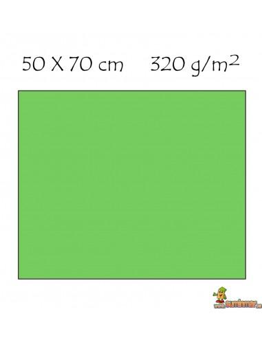Cartón ondulado 50 x 70 cm 320 g/m² Verde hoja
