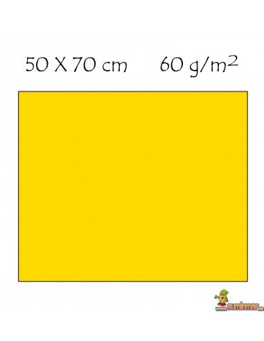 Goma EVA Fluorescente 50 x 70 cm. Liderpapel AMARILLO NEON