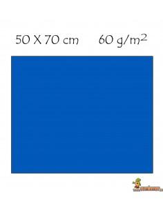 Goma EVA metalizada 50 x 70 cm Azul