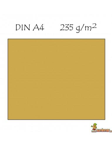 Cartulina A4 Metalizada 235g/m² Oro