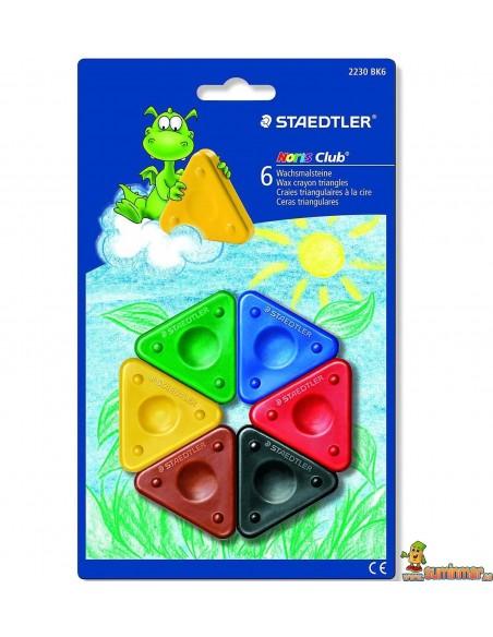 Ceras triángulo para niños Staedtler Noris Club