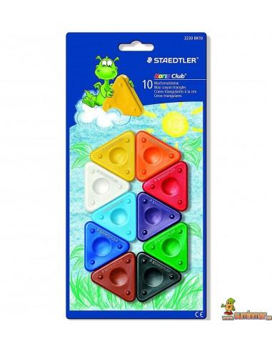 Ceras triángulo para niños Staedtler Noris Club 10 colores