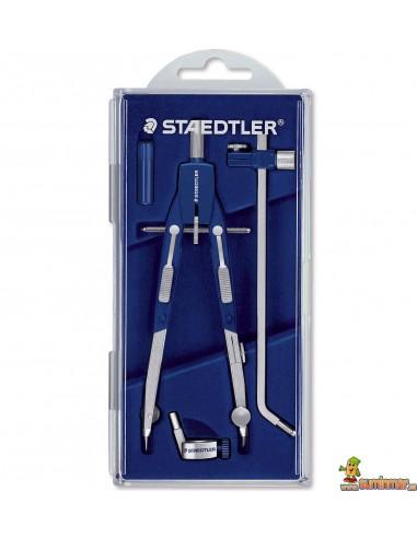 Compás articulado Staedtler Mars Quickbow 552 02 con adaptador, bigotera y alargadera
