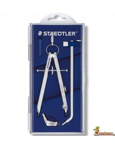 Compás técnico Staedtler Mars 551 02 con adaptador, alargadera y bigotera