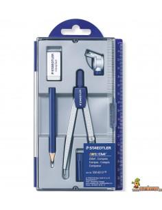 Compás escolar Staedtler Noris Club 550 60 con adaptador, lápiz y goma