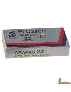 Grapas Nº 22 El Casco Caja 1000 uds