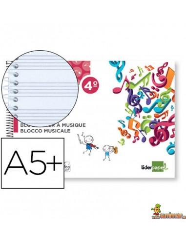 Bloc de Música 6 Pentagramas 3mm