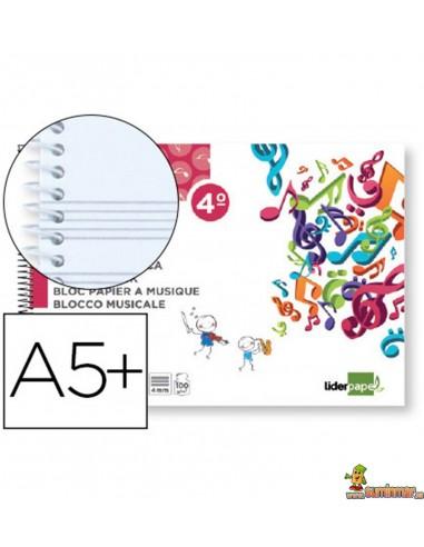 Bloc de Música 5 Pentagramas 4mm