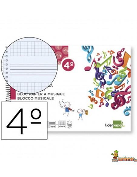 Bloc de Música 3 Pentagramas 3mm con espacios para anotaciones