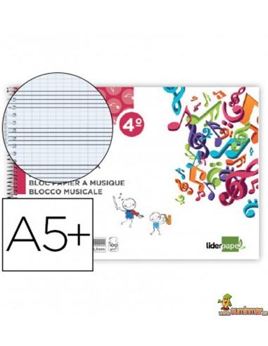 Bloc de Música 6 Pentagramas 2.5mm