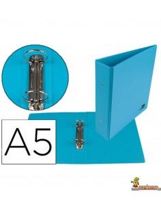 Carpeta 2 anillas de 40 mm DIN A5 azul celeste