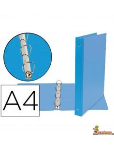 Carpeta 4 anillas de 25 mm DIN A4 azul celeste