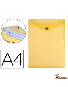 Carpeta Sobre Vertical A4 180µ Amarillo
