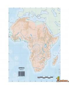 Mapa mudo África A4