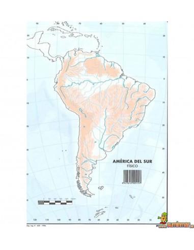 Mapa mudo América del Sur A4