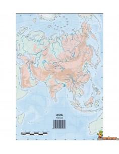 Mapa mudo Asia A4