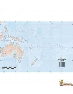 Mapa mudo Oceanía A4