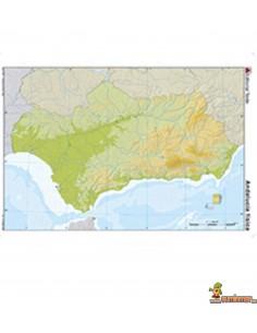 Mapa mudo Andalucía A4