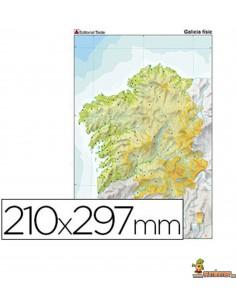 Mapa mudo Galicia A4