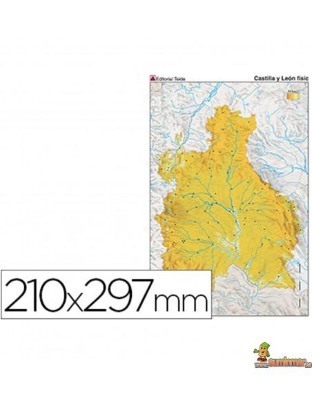 Mapa mudo Castilla León A4