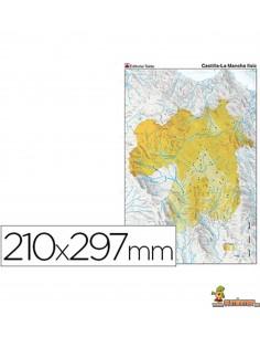 Mapa mudo Castilla La Mancha A4