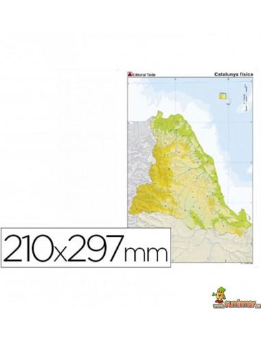 Mapa mudo Cataluña A4