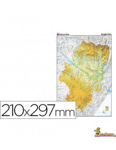 Mapa mudo Aragón A4