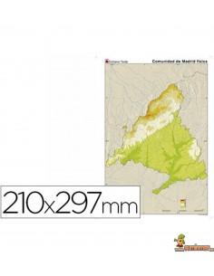 Mapa mudo Madrid A4