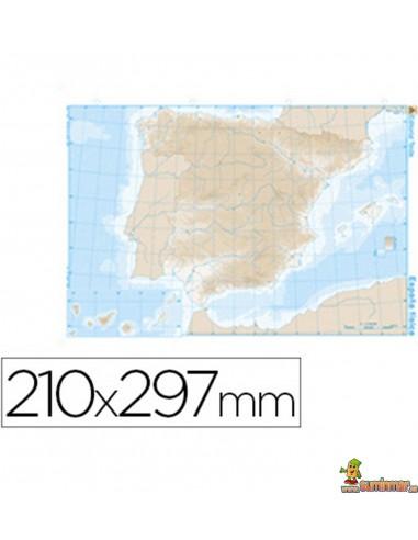 Mapa Mudo España A4