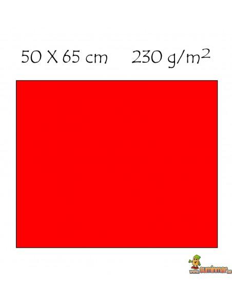 Cartulina 50x65 cm Fluorescente 230g/m2