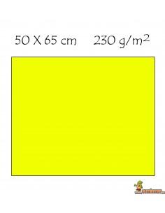 Cartulina colores flúor 50x65 cm 230g/m2 Amarillo neón