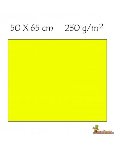 Cartulina 50x65 cm Fluorescente Amarillo Neón
