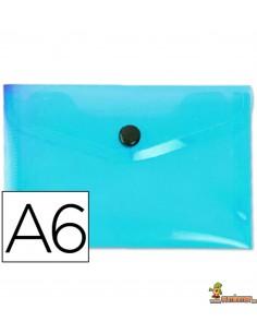 Carpeta Sobre A6 180µ Azul