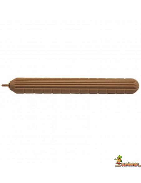 Punzón 7 cm Faibo de plástico imitando la madera. Punta de acero latonado