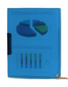 Carpeta con pinza lateral giratoria DIN A4 para 30 hojas Azul