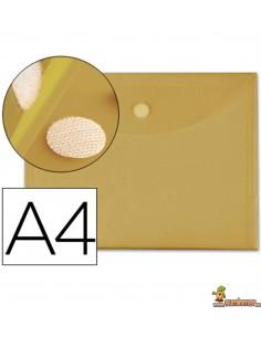 Carpeta Sobre con Velcro A4 180µ Amarillo