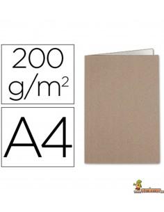 Subcarpeta DIN A4 cartulina Kraft con interior blanco